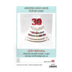 3D Pop Up - 30th Birthday Card