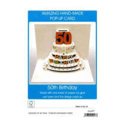 3D Pop Up - 50th Birthday Card