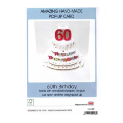 3D Pop Up - 60th Birthday Card