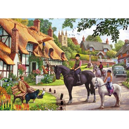 A Ride with Mum 500 Piece Jigsaw Puzzle