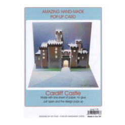 Cardiff Castle 3D Pop Up Greeting Card