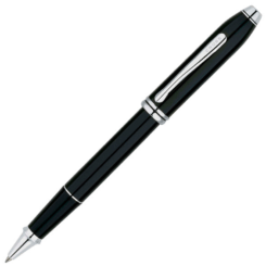 Cross Townsend Black Rollerball Rhodium Trim