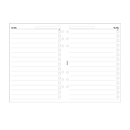 Filofax A5 – To Do