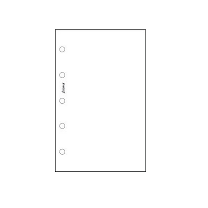 Filofax Mini – White Plain Notepaper