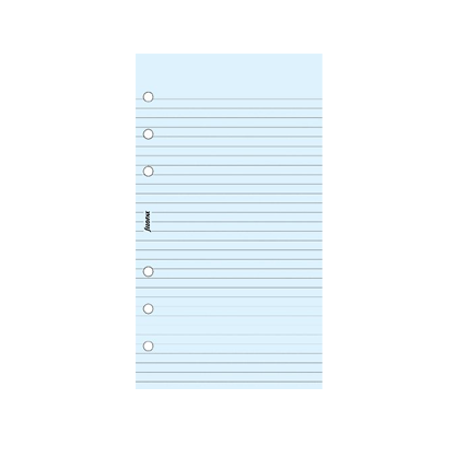 Filofax Personal – Blue Ruled Notepaper