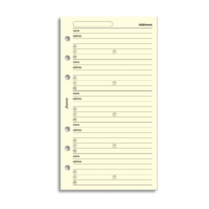 Filofax Personal – Cotton Cream Addresses