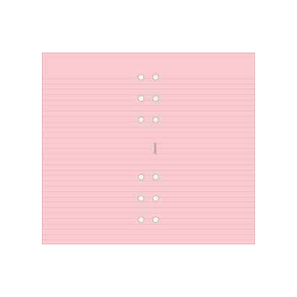 Filofax Personal – Pink Ruled Notepaper