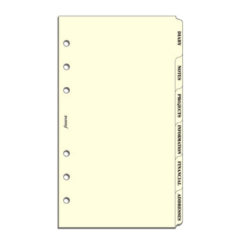 Filofax Personal – Subject Index (Cream)