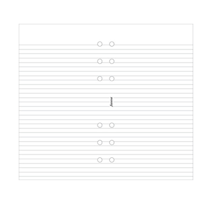 Filofax Personal – White Ruled Notepaper
