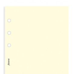 Filofax Personal - Cotton Cream Plain Notepaper
