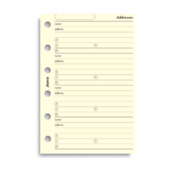 Filofax Pocket – Cotton Cream Address Book