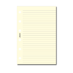 Filofax Pocket – Cotton Cream Ruled Notepaper