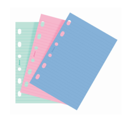 Filofax Pocket – Fashion Coloured Ruled Notepaper