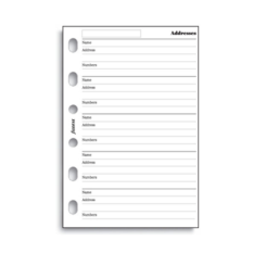 Filofax Pocket – Name, Address and Telephone