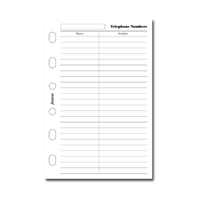 Filofax Pocket – Name and Telephone