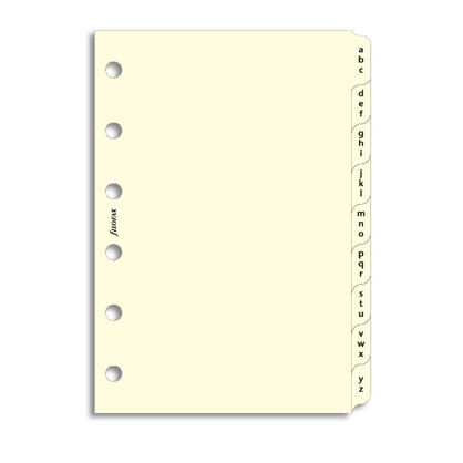 Filofax Pocket- Cotton Cream A-Z Index