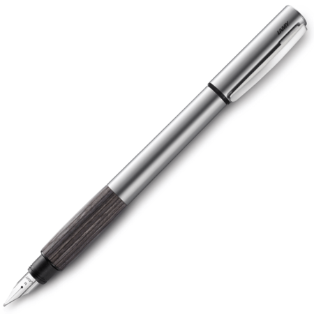 Lamy Accent Aluminium Grey Wood Fountain Pen