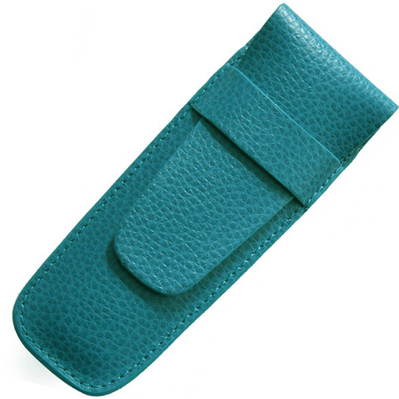 Laurige Double Turquoise Leather Pen Case