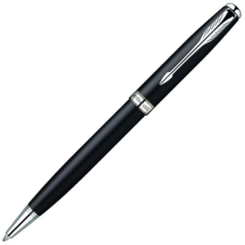 Parker Sonnet Matt Black Ballpoint with Chrome Trim