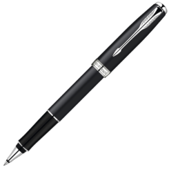 Parker Sonnet Matt Black Rollerball with Chrome Trim