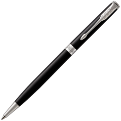 Parker Sonnet Slim Lacquer Black Ballpoint with Chrome Trim