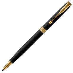 Parker Sonnet Slim Matt Black Ballpoint with Gold Trim