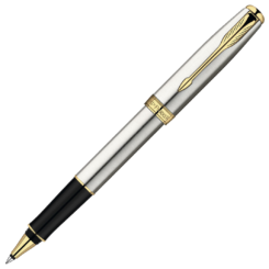 Parker Sonnet Stainless Steel Rollerball with Gold Trim