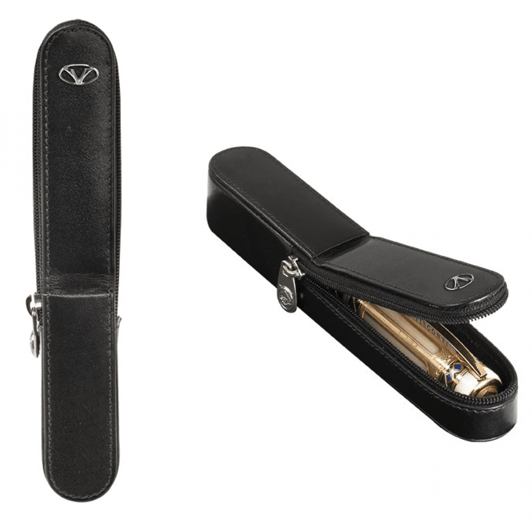 Visconti Leather Pen Case Holds One Pen