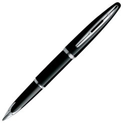 Waterman Carene Black Silver Trim Fountain Pen