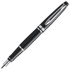 Waterman Expert Glossy Black Chrome Trim Fountain Pen