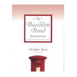 Basildon Bond Medium White Writing Pad 40 Sheets