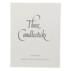 Three Candlesticks 50 Sheets White Writing Paper A5
