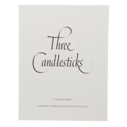 Three Candlesticks 50 Sheets White Writing Paper P4T0