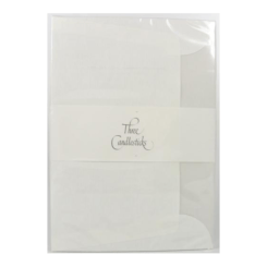 Three Candlesticks C6 Luxury White Tissue Lined 20 Envelopes