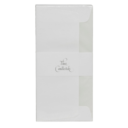 Three Candlesticks P4T0 Luxury White Tissue Lined 20 Envelopes