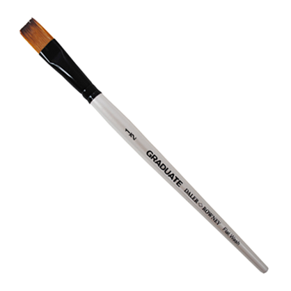 Daler Rowney Graduate Synthetic Flat Wash – Short Handle Brush