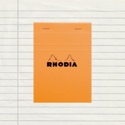A6 Orange Lined Stapled Rhodia Pad - No.13 - 10.5 cm x 14.8 cm
