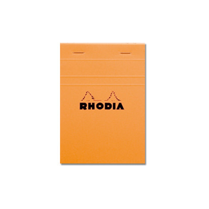 Rhodia Head-Stapled Orange Notepad No13 A6 (105 x 148)
