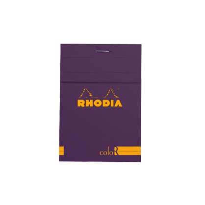 Rhodia R coloR Head-Stapled Purple Notepad No 12 (85 x 120)