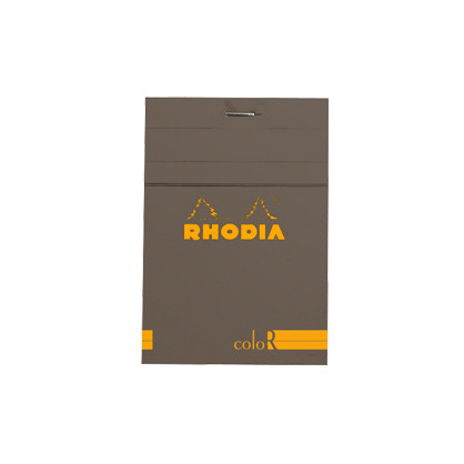 Rhodia R coloR Head-Stapled Taupe Notepad No12 (85 x 120)