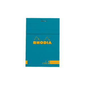 Rhodia R coloR Head-Stapled Turquoise Notepad No 12 (85 x 120)