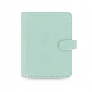 Filofax Patent Duck Egg Pocket Organiser