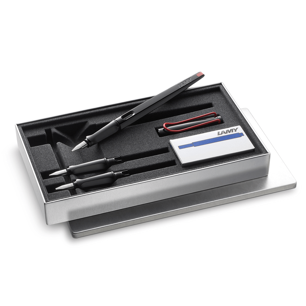 Lamy Joy Italic Black Fountain Pen Set