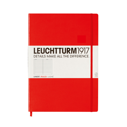 Leuchtturm A4 Notebook Master Lined Red Hardcover