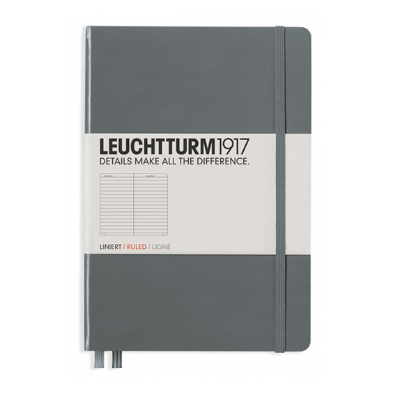 Leuchtturm A5 Grey Notebook Medium Lined Hardcover