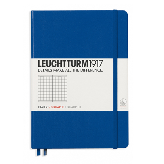 Leuchtturm A5 Royal Blue Notebook Medium Squared Hardcover