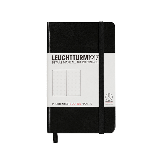 Leuchtturm A6 Black Notebook Pocket Dotted Hardcover
