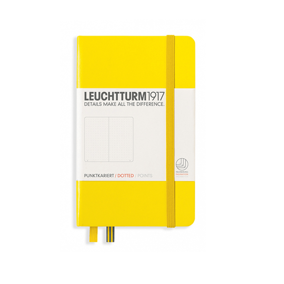 Leuchtturm A6 Lemon Notebook Pocket Dotted Hardcover
