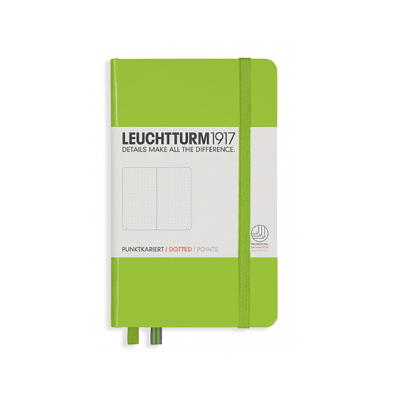 Leuchtturm A6 Lime Notebook Pocket Dotted Hardcover