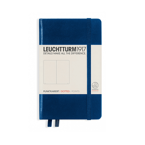 Leuchtturm A6 Navy Notebook Pocket Dotted Hardcover
